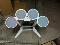 Nintendo Wii Harmonix Wired Rockband Drum Set ONLY No Sticks No Pedal 19092