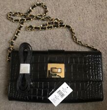 Valentino Pebbled/croc Leather Cross Body Bag New With Tag - 100% Authentic