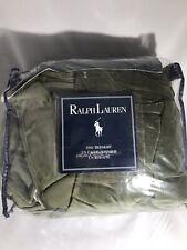 Ralph Lauren Velvet Bedskirt Sage Moss Green KING SIZE NWT & Original Packaging