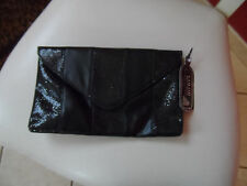Black evening clutch with sparkle