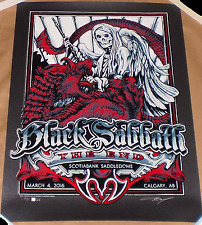 Black Sabbath Calgary 2016 AJ Masthay Signed #d Print Poster A.J. Canada The End