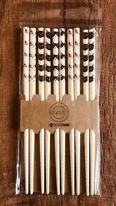 Cat  Chopsticks  20.5cm 5pair Kitchen Cute  Kawaii  Bamboo BENTO