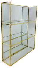 Gold Mirror Shelf Unit Glass Shelving Display Storage Metal Frame Decor 28cm