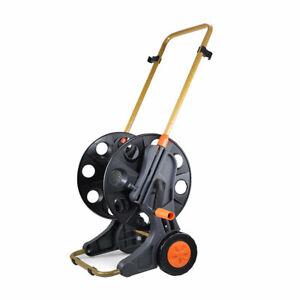 Portable Garden Hose Pipe Reel Holder Trolley Cart Water Watering Garden Tool