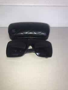 genuine Black chanel sunglasses Black Leather Arms