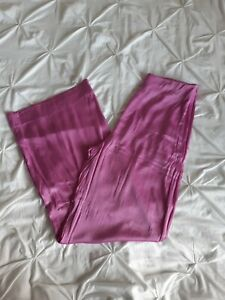 Zara Woman Pink Satin Wide Leg Trousers Size XL Fits 14 Uk