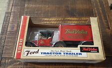 Ertl Ford 1918 Tractor Trailer-True Value Hardware-Bank-Limited Edition-