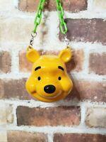 Tokyo Disney Resort Winnie The Pooh Candy Case face Figure bucket Ornament JAPAN
