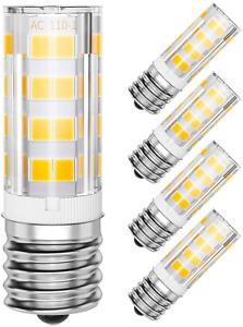 SHINESTAR 4-Pack E17 LED Microwave Light Bulb 125V 40W Equivalent, 3000K Warm Wh