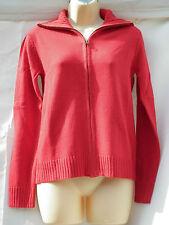 Zip Hip Length Cotton Blend Jumpers & Cardigans for Women