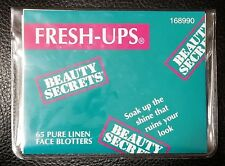 "Beauty Secrets- 65 Fresh-Ups Face Blotters with Carrying/Storage Pouch - 3"" x 4"""