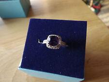 1 ctw Amethyst Purple ring-Cushion cut w diam. accent size 6 or 7 .925 Sterling