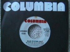 """BLUE OYSTER CULT """"WE GOTTA GET OUT OF THIS PLACE"""" WHITE LABEL PROMO 7"""" 45 MINT"""