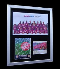 ASTON VILLA 1994 COCA COLA FINAL LTD Numbered FRAMED+EXPRESS GLOBAL SHIPPING