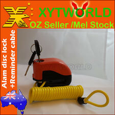 Motor cycle bike Alarm Disc Lock+Reminder Cable Spring New Universal scooter mx