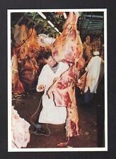 CHEVILLY-LARUE (94) HALLES de RUNGIS , ABATTOIR BOUCHER découpe viande en 1990