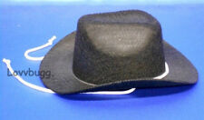 Black Cowboy Western Riding Hat for 18 inch Doll Clothes American Girl Lovvbugg