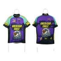 Mens Ultima Bike Wear American Eagle Cycling Jersey Short Sleeve Purple Size 4
