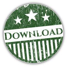 """Download Grunge Stamp Car Bumper Sticker Decal -  """"SIZES"""""""