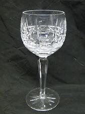 Waterford Kylemore Balloon Wine Hock Glasses 7 3/8in Clear Cut Crystal