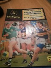 Gaa Programme Limerick v Tipperary Munster Hurling Final 1996 Replay