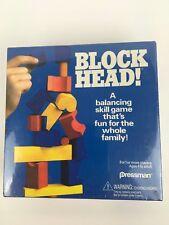 1992 Block Head Blockhead Balancing Skill Game by Pressman #4470