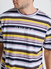 Guess Originals Striped Tee Horizontal Stripes T-Shirt Los Angeles Size Large