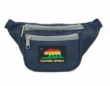 Rasta California Republic Fanny Pack Waist Belt Bag Sports Pouch Rave Navy Gray