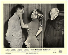 MONKEY BUSINESS ORIGINAL LOBBY CARD MARILYN MONROE SLAPPING CARY GRANT 1952