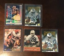 Rams Colts Football Marshall Faulk Lot of 5 With Jersey And Rookie Card.