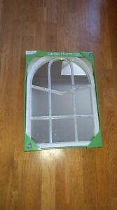 Garden weather proof mirror distracted white new
