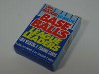 1988 Fleer Major League Base Ball's League Leaders Opened Box 44 Trading Cards