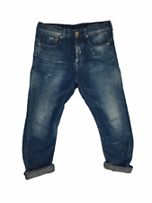 G-Star Raw Mens Jeans W30 / 32 Re New Kick Cropped Vintage Sample RARE Blue