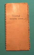 Vintage Towle Sterling Silver Engraving Services Guide Catalog Engravers Copy