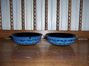 """Set of 2 Arcoroc Yucatan Aztec 6 1/4"""" Soup Cereal Bowls USED"""