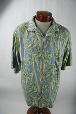Jamaica Jaxx  Men's Silk Button Up Hawaiian Shirt Bamboo -  Large
