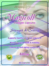 COLLAGEN CAPSULES (HYDROLYSED) 1200mg, HAIR, SKIN, NAILS ANTI AGING ANTI WRINKLE