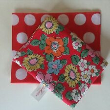 BNWT CATH KIDSTON Camden Red Floral Tablecloth 140 x 180cm Free CK Gift Bag