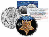 NAVY MEDAL OF HONOR Colorized JFK Kennedy Half Dollar U.S. Coin MILITARY VALOR
