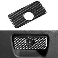 Carbon Fiber Copilot Storage Box Switch Cover Trim For Chevrolet Camaro 17-19
