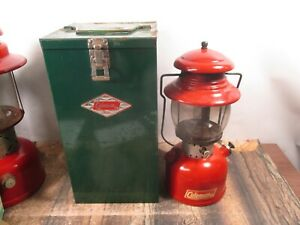 COLEMAN LANTERN 200 RED W / CASE  DATED 12 - 63   NO RESERVE