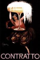 Leonetto Cappiello Contratto Sparkling Wine Art Print Poster 24x36 inch