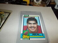 """1990  TOPPS   """"ROOKIE""""  #381  """"JUNIOR SEAU""""  (CHARGERS)."""