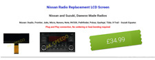 Nissan Radio Replacement LCD Screen Juke, Micra, Navara, Note, NV200, Qashqai