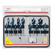 Bosch 13 Pcs 10mm - 32mm Wood Self Cut Flat/Spade Speed Drill Bit Set 2608587010