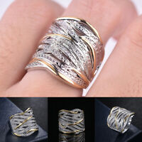 Crystal  925 Silver Rings Women White Sapphire Wedding Ring Fashion Jewelry