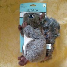 MARTHA STEWART 'SQUIRREL' Dog TOY Gentle Play Squirrel Plush Stuffed Squeak NEW