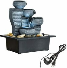 4-Tier Tabletop Water Fountain Pump Indoor Decoration Kit Soothing Relaxation