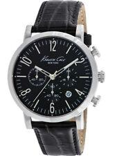 Kenneth Cole New York KC10020826 Dress Sport Multifunction Black Leather  Watch