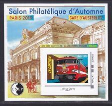 BLOC CNEP N° 82 ** MNH,  SALON PARIS AUTOMNE 2019, GARE AUSTERLITZ, TB